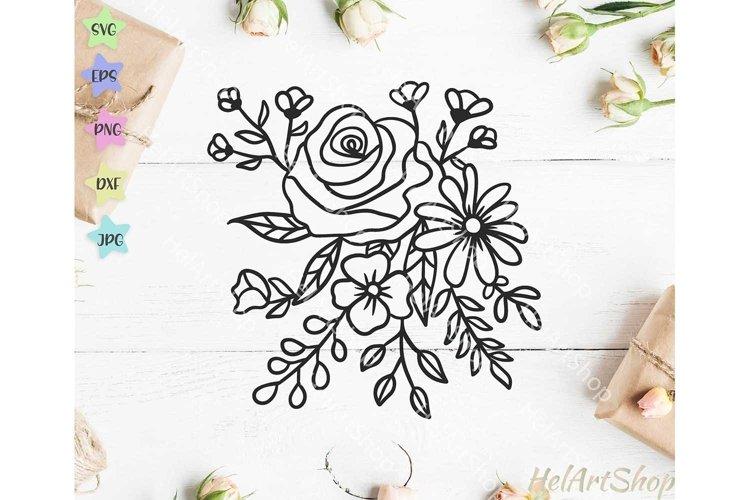 bouquet svg, Flowers svg, floral svg, example image 1