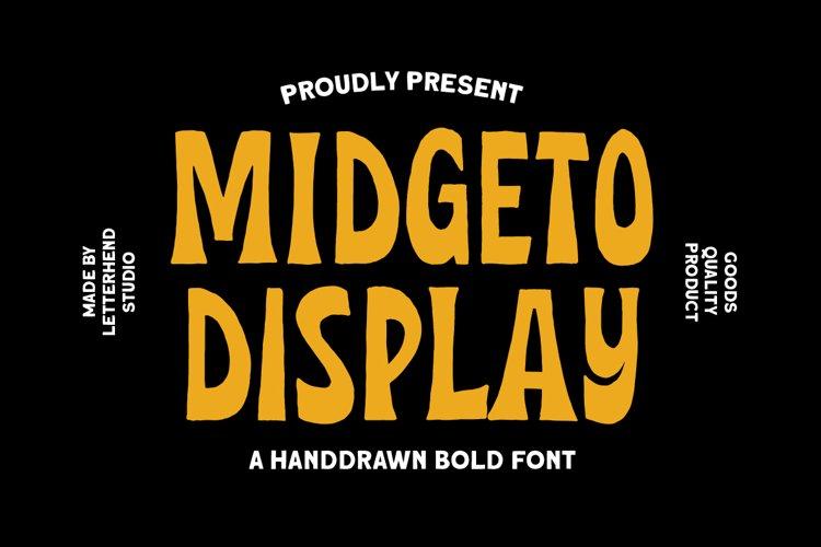 Midgeto Display - Handdrawn Font example image 1