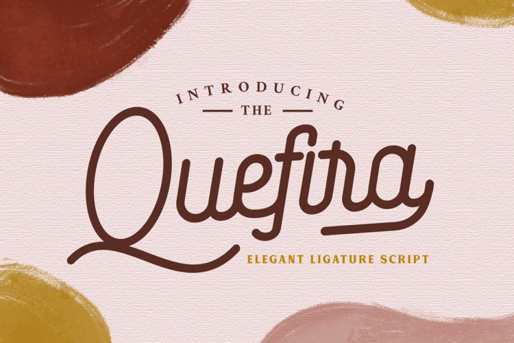 Quefira // Aesthetic Script Font example image 1