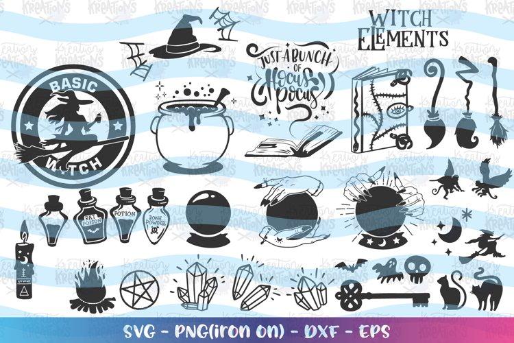 Halloween svg Witch Elements Bundle witch craft Hocus Pocus
