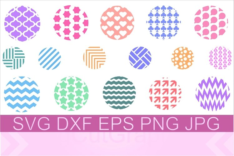 Keychain Round Pattern SVG PNG DXF example image 1