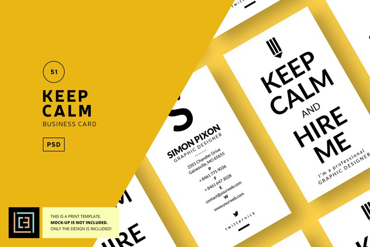 Keep Calm Designer Business Card - BC051