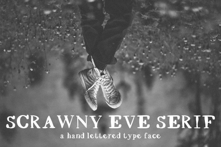 Scrawny Eve - Hand Lettered Serif Typeface