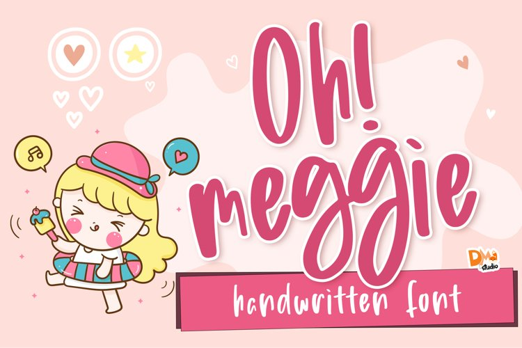 Oh! Meggie - Handwritten Font example image 1