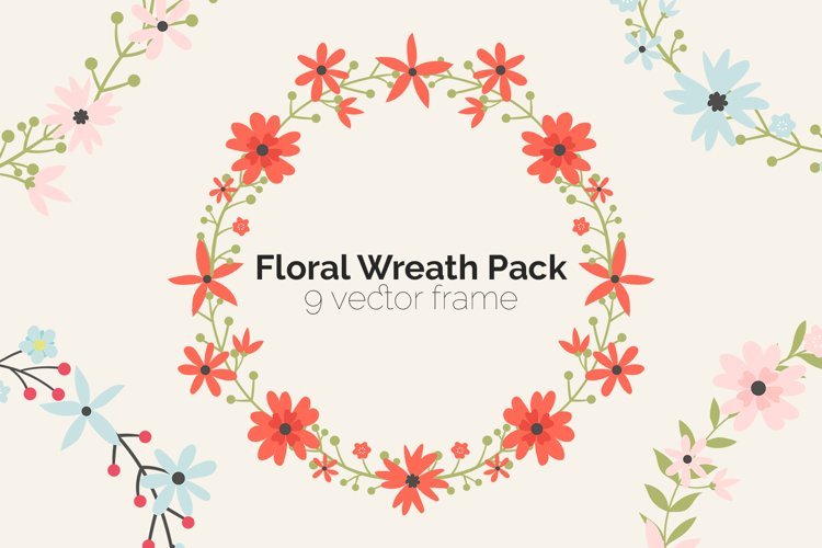 Floral Wreath Pack example image 1