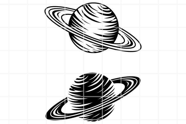 Saturn SVG. Saturn cut file. Planet svg. Planet clip art.