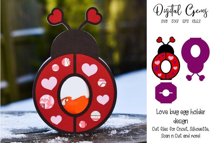 Love bug, Lady bird Easter egg holder design SVG / DXF / EPS example image 1