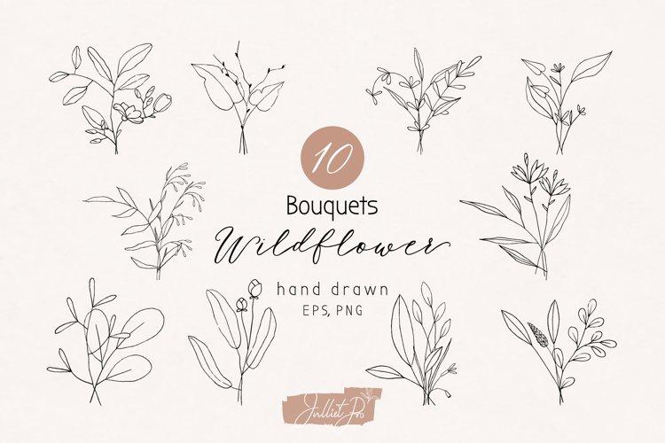 Botanical clipart boho wedding bouquets