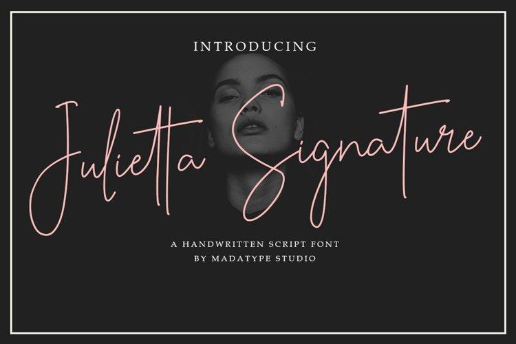 Julietta Signature | Handwritten Monoline Font example image 1