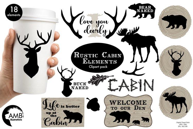 Rustic Cabin Elements,graphic, illustration, clipart