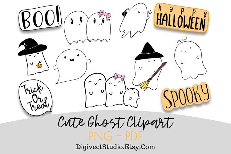 Halloween Ghost Clipart - Set of 10 - Digital Scrapbook example image 1