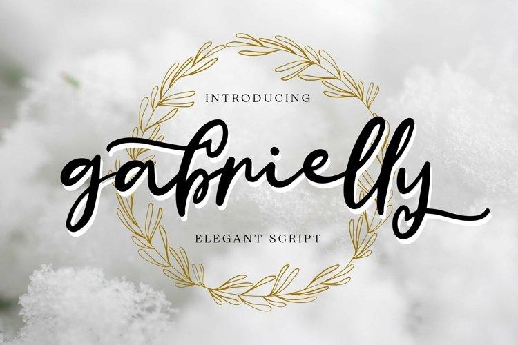 Web Font Gabrielly - Elegant Script Font example image 1
