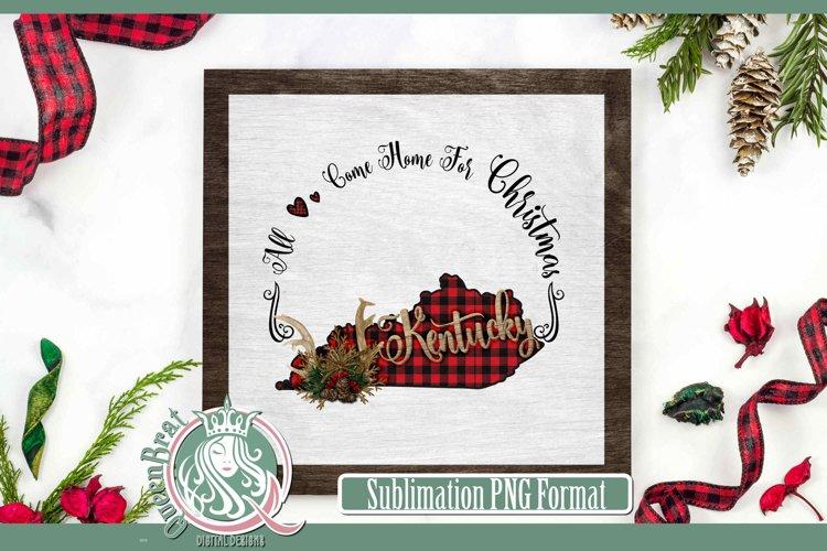 Sublimation | Kentucky Plaid Christmas State example image 1