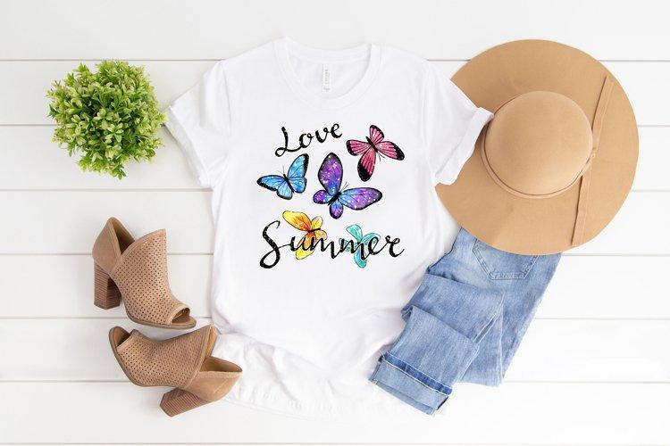 Love summer sublimation png, Summer t-shirt design png