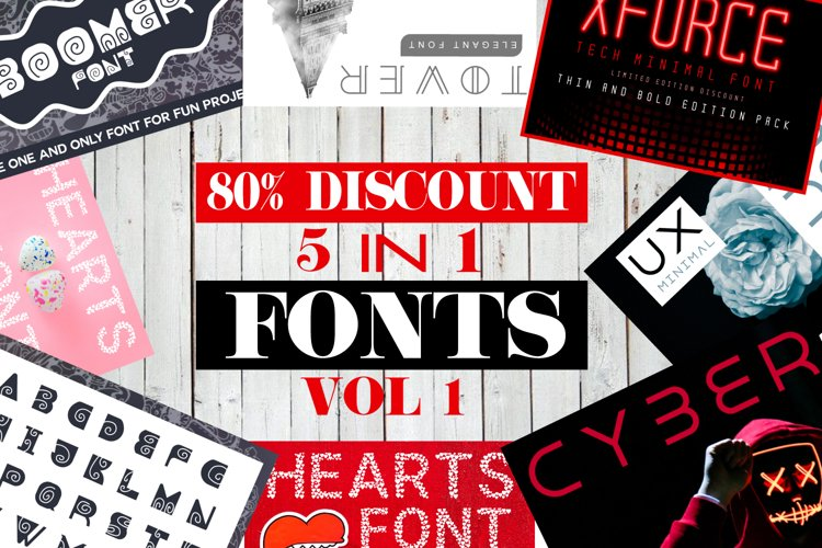 5 in 1 Font Bundle Vol. 1 example image 1