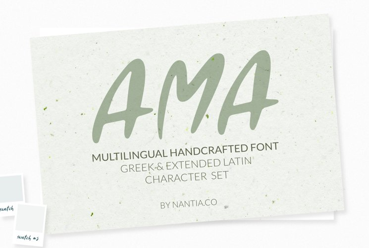 AMA Greek and Latin Font example image 1