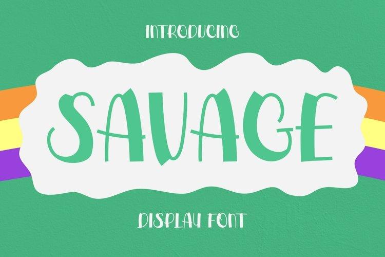 Web Font Savage Font example image 1