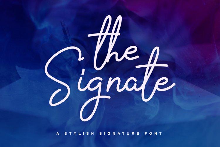The Signate - a stylish signature font example image 1
