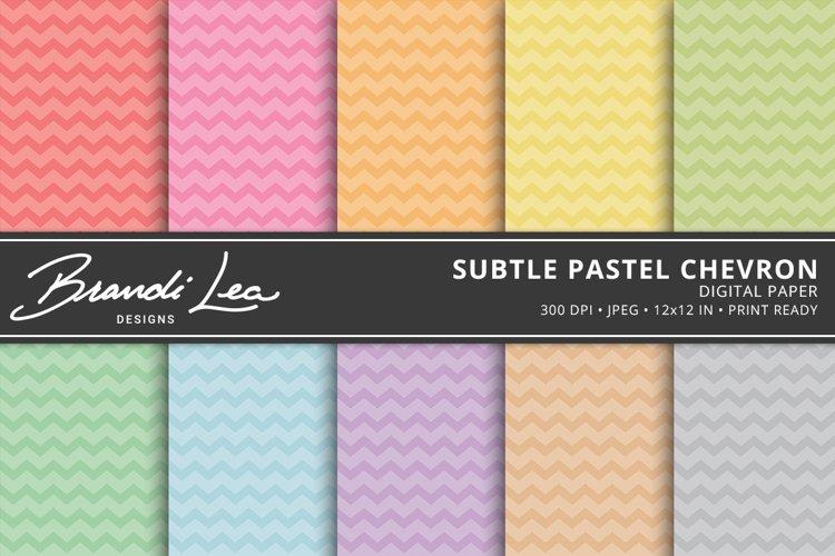 Subtle Pastel Chevron Digital Paper Pack