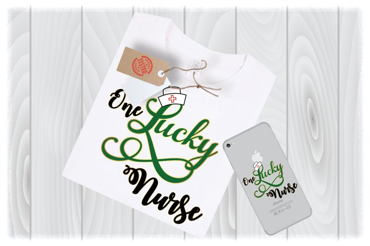 Nurse St Patricks Day SVG Files for Cricut Designs example image 1