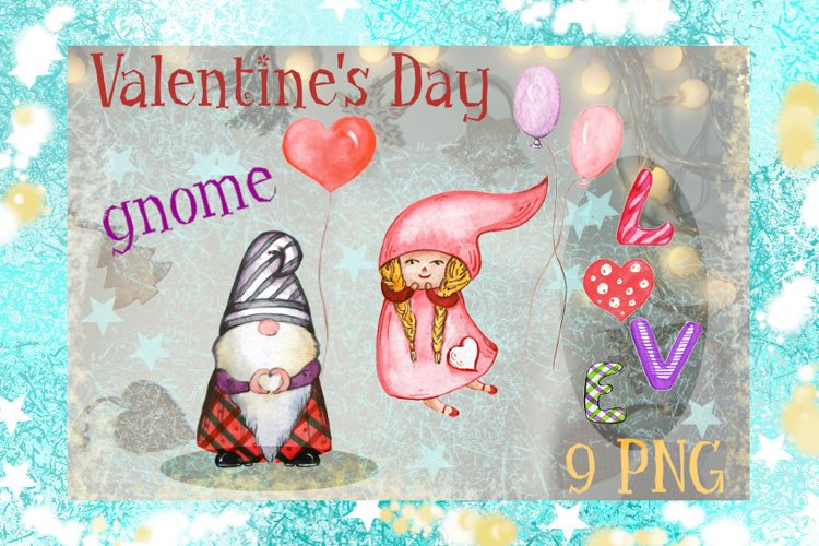 Valentine gnome, love and balloons example image 1