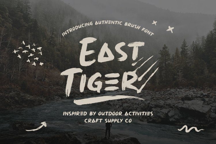 East Tiger - Authentic Brush Font example image 1