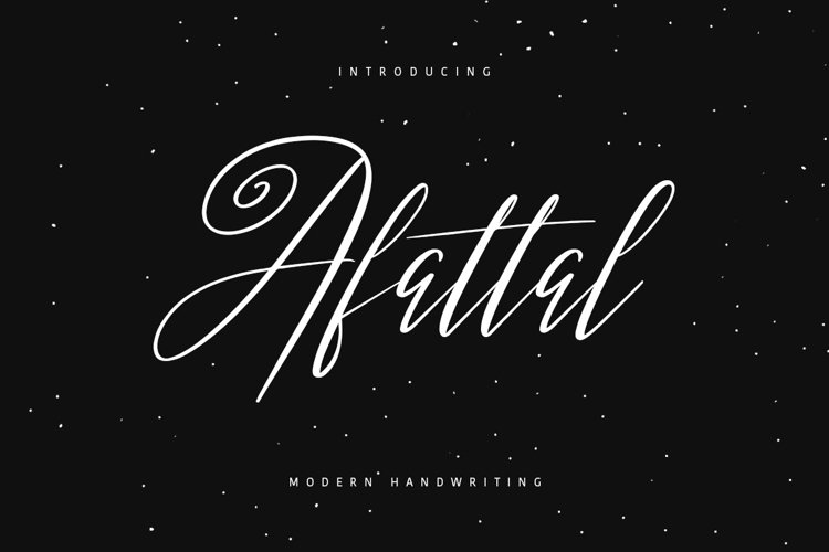 Afattal Typeface example image 1
