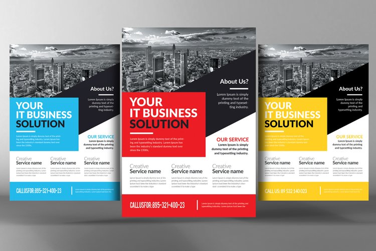 Advertising Company Flyer Template example image 1