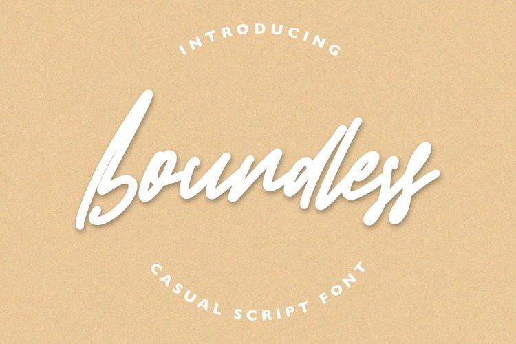 Web Font Boundless - Casual Script Font