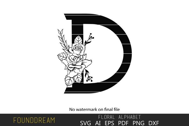 Floral Alphabet, D Letter example image 1