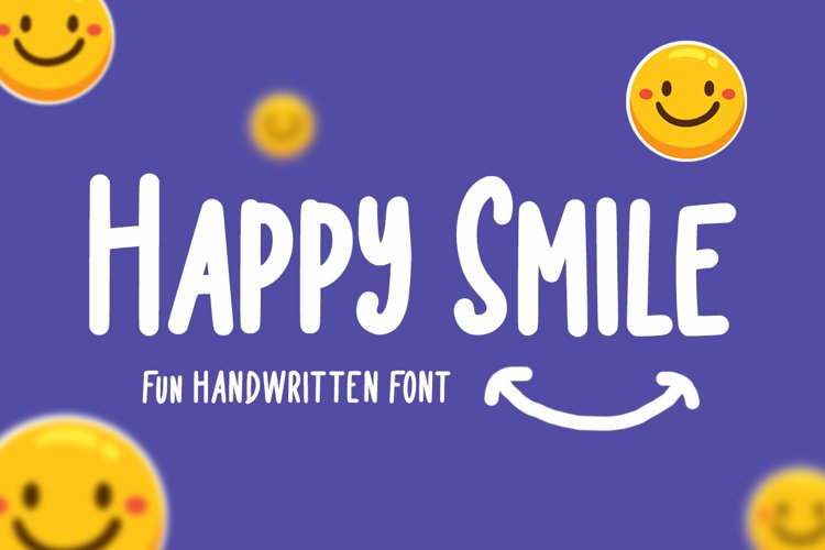 Happy Smile - Funny Font example image 1