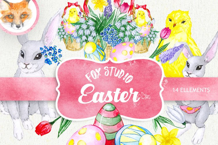 Easter Watercolor Egg Clipart, Spring Clip Art example image 1