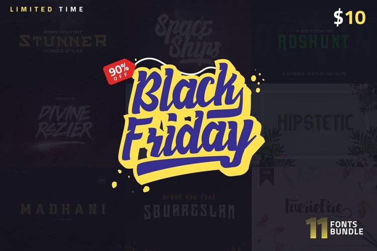 1 Fonts less than $1! Black Friday example image 1