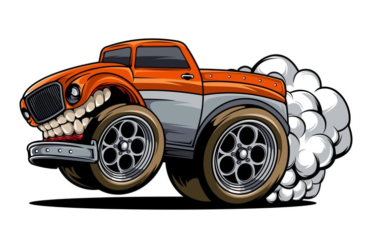 Truck with exhaust fumes example image 1