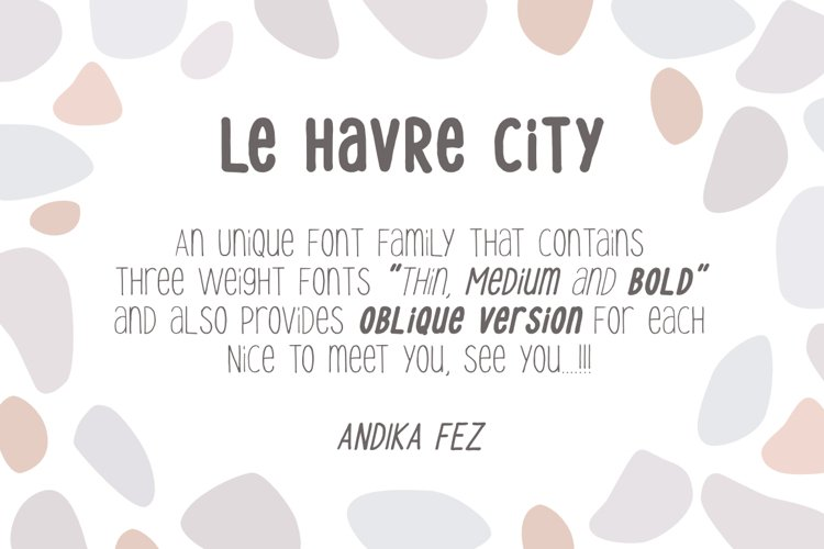 Le Havre City Font example image 1