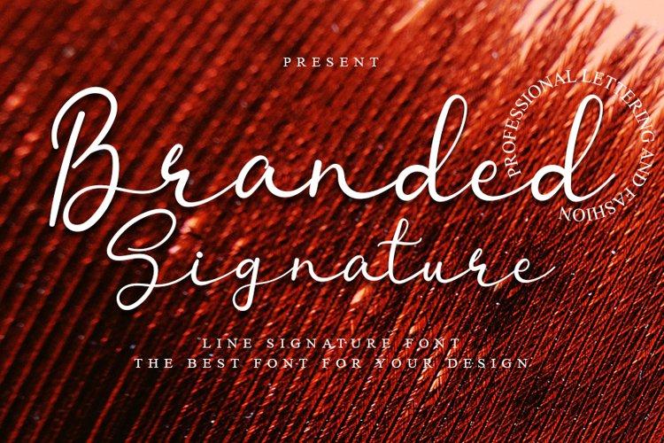 Branded Signature - Signature Font example image 1