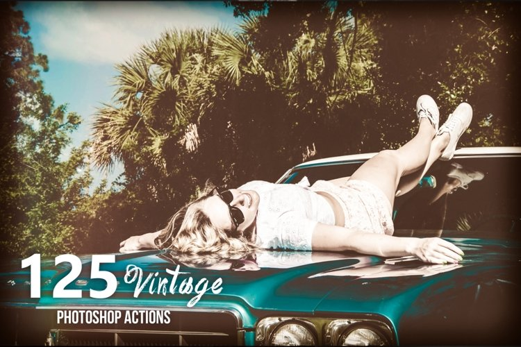 125 Vintage Photoshop Actions example image 1
