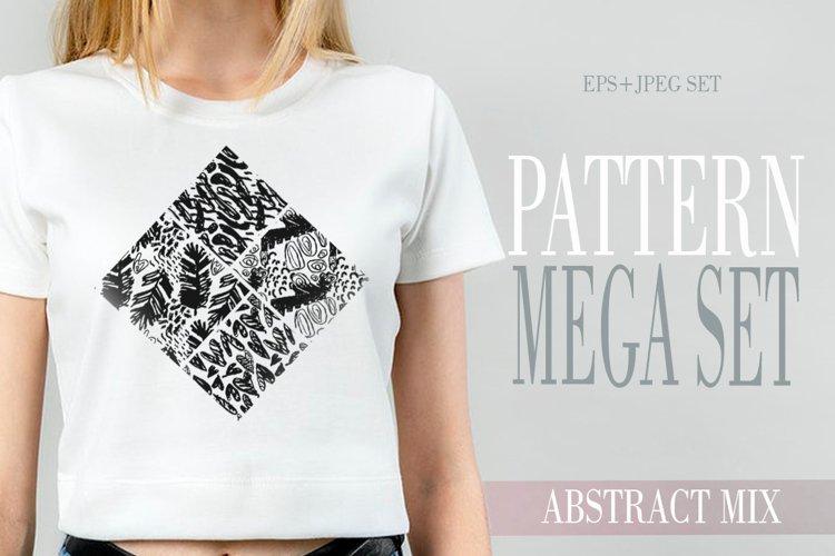 Abstract hand drawn pattern mega set example image 1