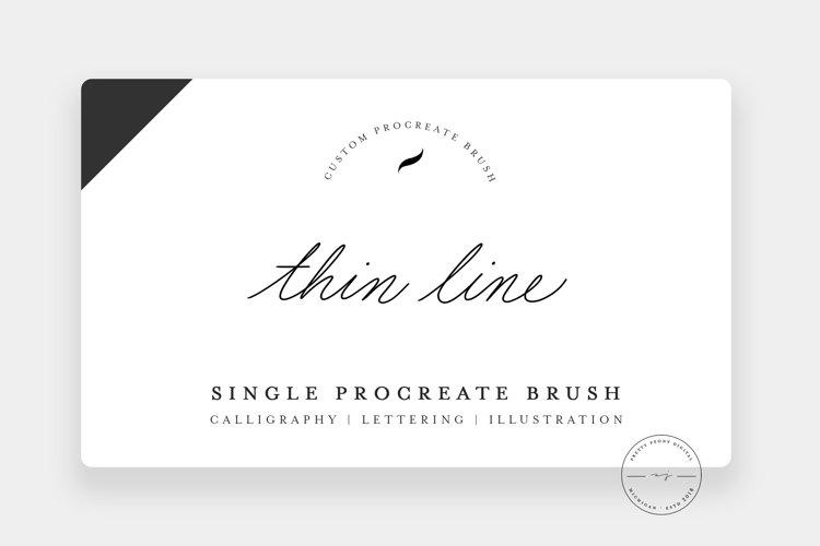 Thin Line | Single Procreate Brush, Illustration Brush