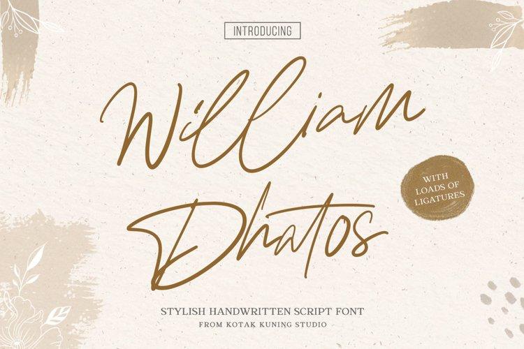 Signature Font - William Dhatos example image 1