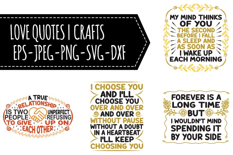 Love Quotes SVG Bundle example image 1
