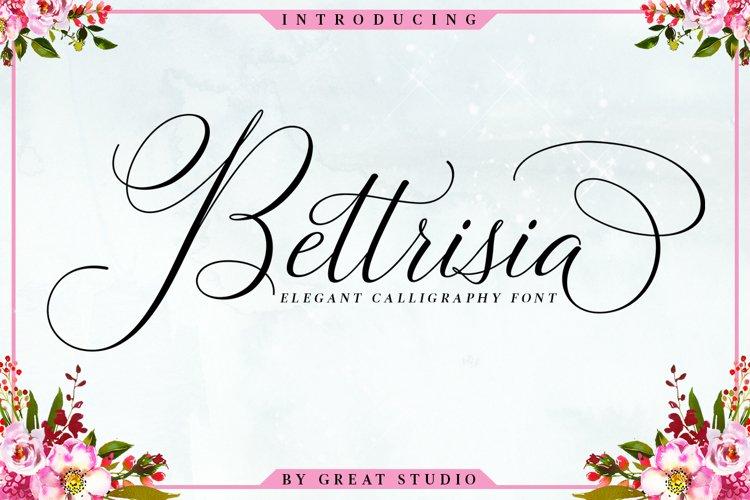 Bettrisia Script - Elegant Calligraphy Font example image 1