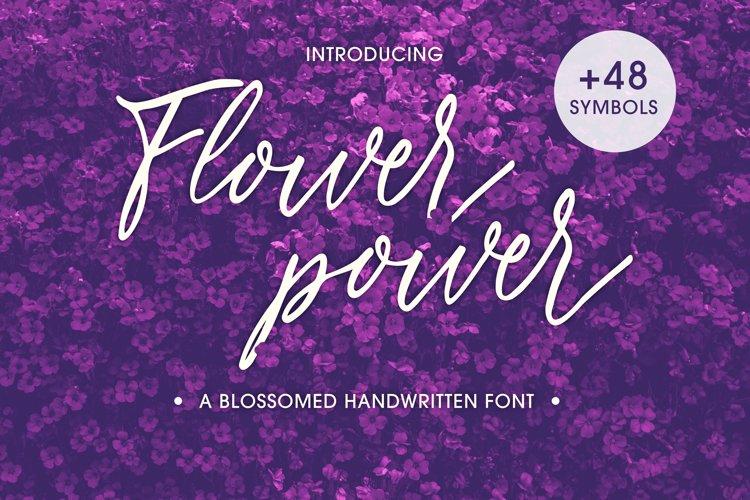 Flower Power script font