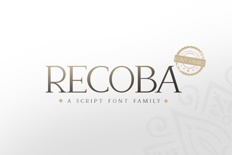 Recoba Font Family example image 1