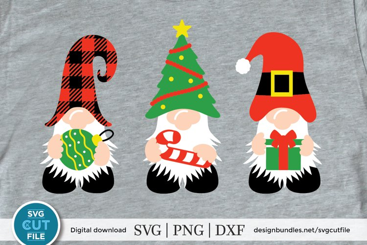 Christmas gnomes svg, a christmas gnome svg with candy cane example image 1
