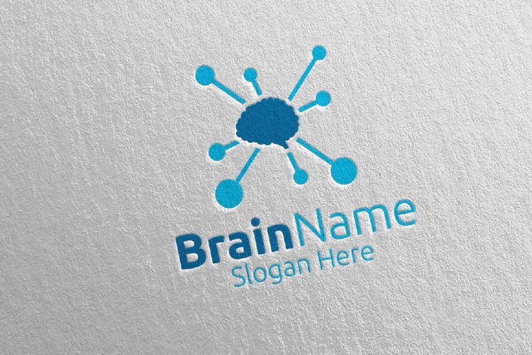 Brain Technology Logo Design 6 example image 1