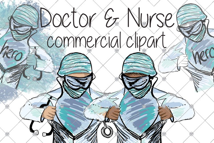 Medical clipart - Nurse clipart - Doctor clipart - Hospital example image 1