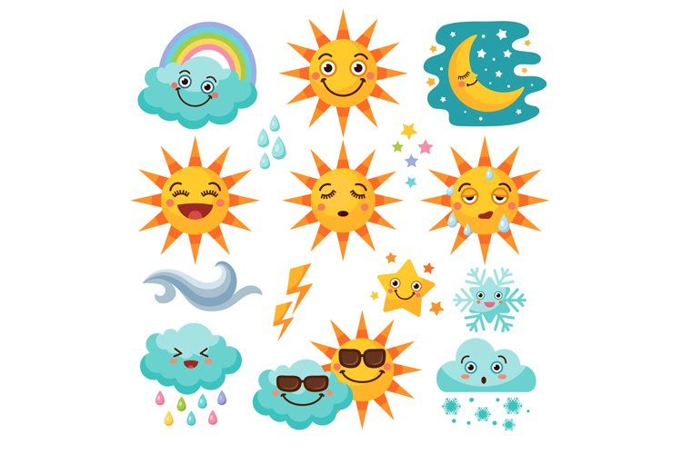 Various weather icon set example image 1