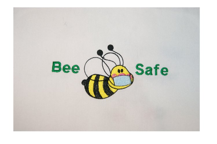 Bee Safe Embroidery Design