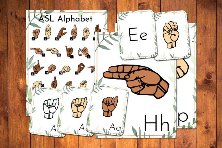 ASL Alphabet Flashcards Bundle Leaves American Sign Language